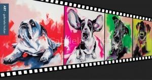 gabriela holcer funny dogs>jack russel> basset hound>lazy english bulldog>puppies>acrylic on canvas>fluorescent colors>big painting>modern impressionist artsmiešne psy>jack russel>baset >anglický buldog>šteňatá>akryl na plátne>fluorescentné farby>veľký obraz>moderný impresionizmus
